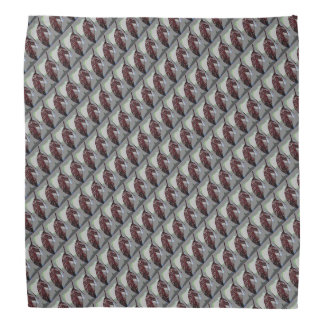 Maroon Leaf Pattern Bandana