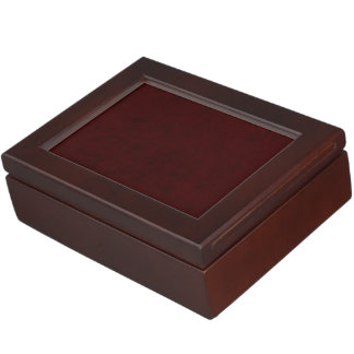 Maroon Red Color Velvet Custom Home Casino Keepsake Box