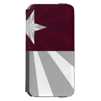 Maroon Texas Flag Burst Incipio Watson™ iPhone 6 Wallet Case