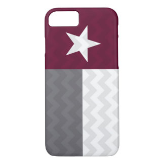 Maroon Texas Flag Chevron iPhone 8/7 Case