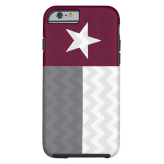 Maroon Texas Flag Chevron Tough iPhone 6 Case