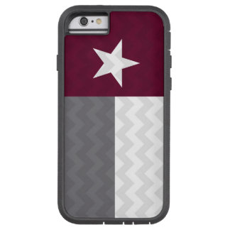 Maroon Texas Flag Chevron Tough Xtreme iPhone 6 Case