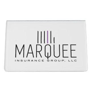 Marquee Business Card Holder Desk Business Card Holder