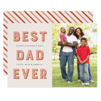 Marquee Father's Day Card - Rust