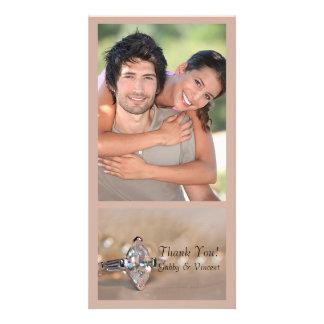 Marquise Diamond Engagement Ring Wedding Thank You Photo Card