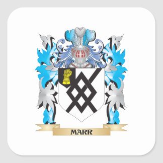 Marr Coat of Arms - Family Crest Square Sticker