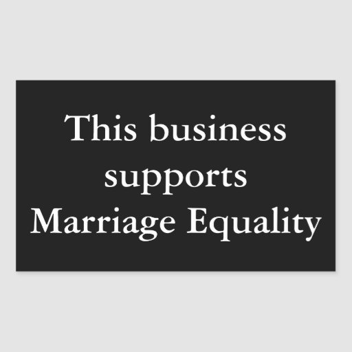 Marriage Equality Support (Customize the colors) Rectangle Stickers