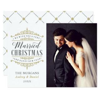 Married Christmas | Newlywed Photo Holiday Card