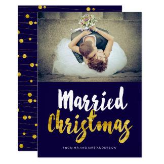 Married Christmas Photo Cards 13 Cm X 18 Cm Invitation Card