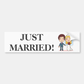 Married Couple Holding Hands Bumper Sticker