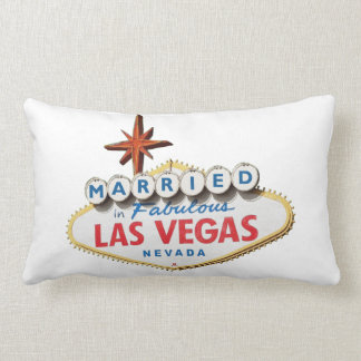 Married in Las Vegas Newly Weds Pillow