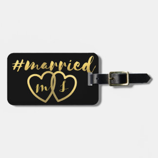 Married Luggage Tag for Honeymoon Bag