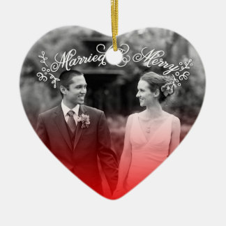 Married & Merry Christmas Ornament