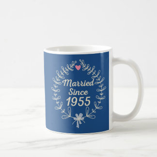 Married Since 1955 Wedding Anniversary Couples Mug