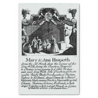 Marry & Ann Hogarth Bussiness Card Tissue Paper