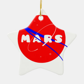 Mars Fictional Space Mission Christmas Ornament
