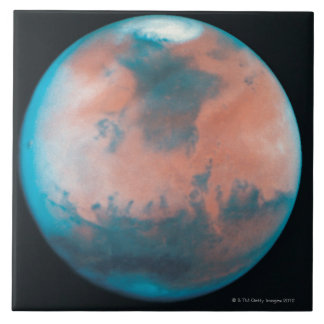 Mars in Opposition Large Square Tile