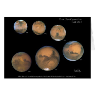 Mars Opposition 1995-2005 Sqr Greeting Card