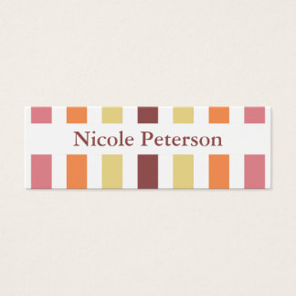 Marsala Color Trend Mommy Calling Mini Business Card