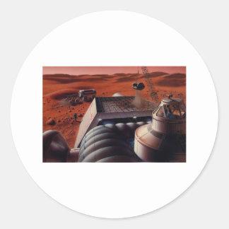 MarsBase Classic Round Sticker