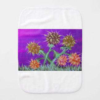 marsflowers baby burp cloths