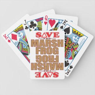 Marsh Frog Save Bicycle Playing Cards
