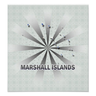 Marshall Islands Flag Map 2 0 Posters