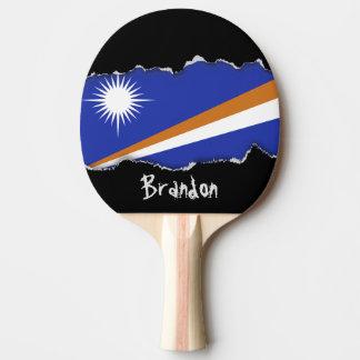 Marshall Islands Flag Ping Pong Paddle
