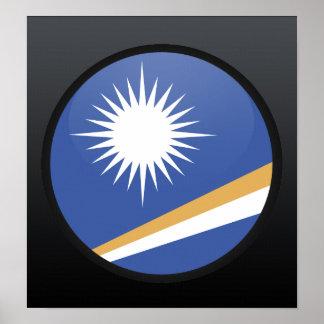 Marshall Islands quality Flag Circle Poster