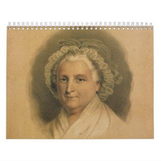 Martha Washington Portrait by Ives Calendar