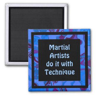 martial artists technique refrigerator magnet