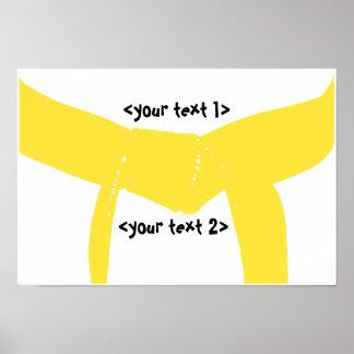 Martial Arts Yellow Belt Poster Print