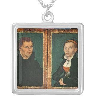 Martin Luther, Katharina von Bora, c.1526 Silver Plated Necklace