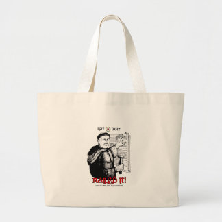 Martin Luther Nailed It! Large Tote Bag
