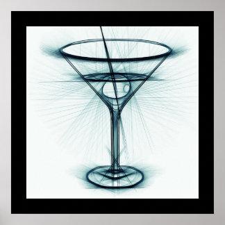 Martini Glass Sketch Poster