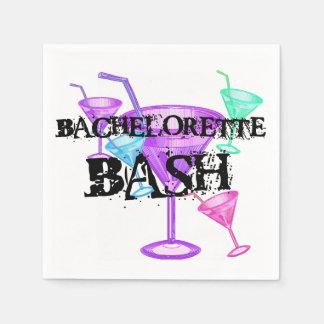 Martini Glasses Bachelorette Bash  Paper  Napkins Paper Napkins