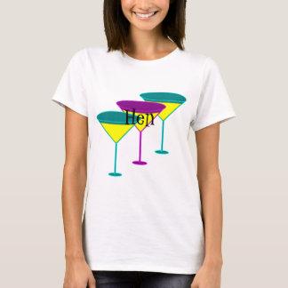 Martini Glasses Hen Party T-shirt