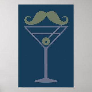 Martini Moustache custom poster