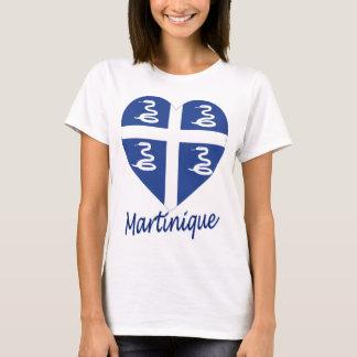 Martinique Flag Heart T-Shirt