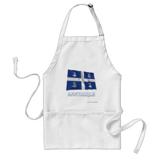 Martinique Waving Flag with Name Standard Apron
