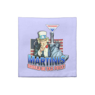 Martinis should be Tax Free American MoJo Napkin