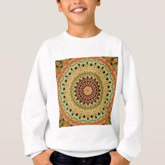 Marty Vintage Orange and Tan Kaleidoscope Sweatshirt