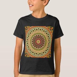Marty Vintage Orange and Tan Kaleidoscope T-Shirt