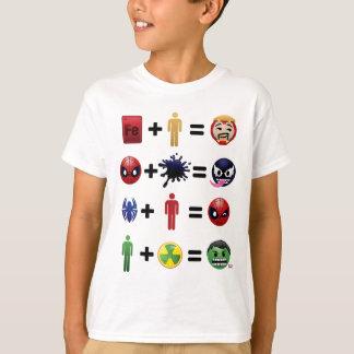 Marvel Emoji Character Equations T-Shirt