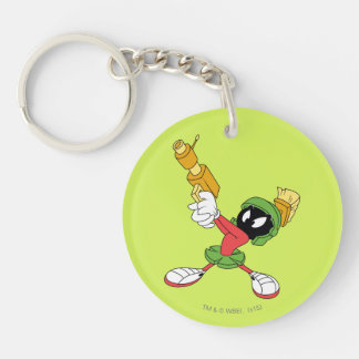 MARVIN THE MARTIAN™ Aiming Laser Double-Sided Round Acrylic Key Ring