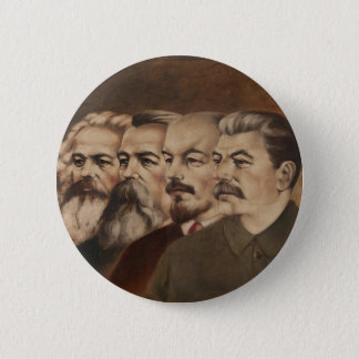 Marx, Engels, Lenin, and Stalin 6 Cm Round Badge