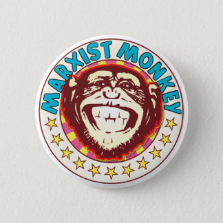 Marxist Monkey 6 Cm Round Badge