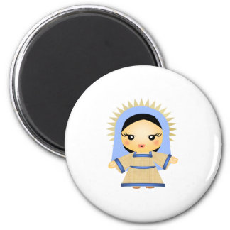 Mary 6 Cm Round Magnet