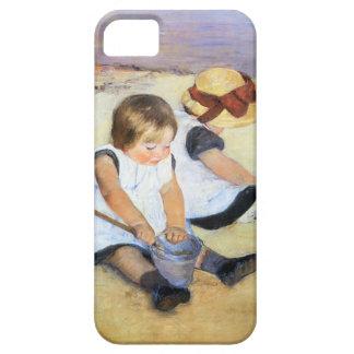 Mary Cassatt Playing on the Beach iPhone 5 Case