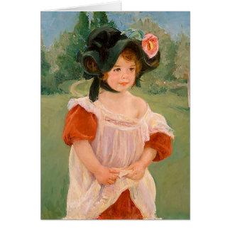 """Mary Cassatt """"Spring: Margot Standing in a Garden"""" Card"""